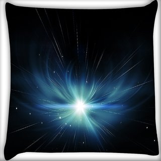 Snoogg Abstract Stars Design Digitally Printed Cushion Cover Pillow 16 x 16 Inch