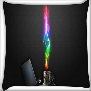 Snoogg Zippo Digitally Printed Cushion Cover Pillow 20 x 20 Inch