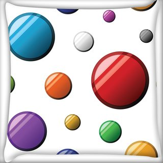 Snoogg Colorful Balls Digitally Printed Cushion Cover Pillow 20 x 20 Inch