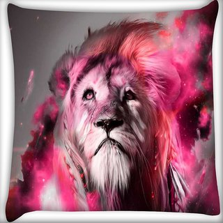 Snoogg God of the forest Digitally Printed Cushion Cover Pillow 16 x 16 Inch