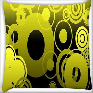 Snoogg geometric Digitally Printed Cushion Cover Pillow 16 x 16 Inch