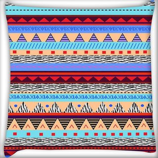 Snoogg Loud Aztec  Digitally Printed Cushion Cover Pillow 16 x 16 Inch