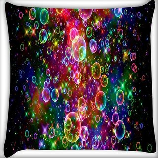 Snoogg bubbles universal Digitally Printed Cushion Cover Pillow 16 x 16 Inch
