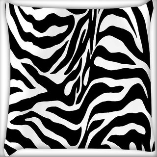 Snoogg Zebra skin Digitally Printed Cushion Cover Pillow 16 x 16 Inch