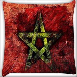 Snoogg Star grunge Digitally Printed Cushion Cover Pillow 16 x 16 Inch