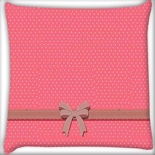 Snoogg Gift Polka Digitally Printed Cushion Cover Pillow 16 x 16 Inch