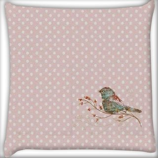 Snoogg Bird Grunge Digitally Printed Cushion Cover Pillow 16 x 16 Inch