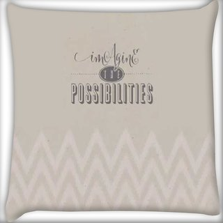 Snoogg Imagine The Possibilites Digitally Printed Cushion Cover Pillow 16 x 16 Inch