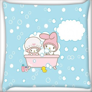 Snoogg Cute Baby shower Digitally Printed Cushion Cover Pillow 16 x 16 Inch