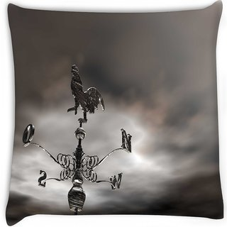 Snoogg  anemometer Digitally Printed Cushion Cover Pillow 16 x 16 Inch