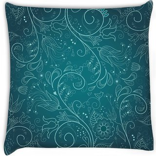 Snoogg  floral hand drawn background Digitally Printed Cushion Cover Pillow 16 x 16 Inch