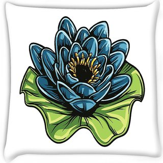 Snoogg  floral vector element  Digitally Printed Cushion Cover Pillow 16 x 16 Inch