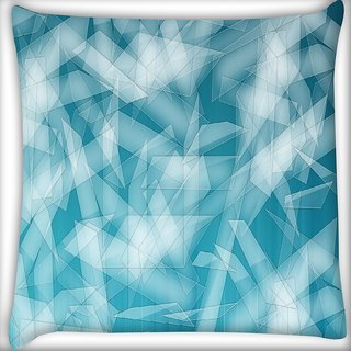 Snoogg Abstract Blue Glasses Digitally Printed Cushion Cover Pillow 16 x 16 Inch
