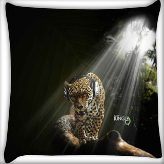Snoogg Jungle Digitally Printed Cushion Cover Pillow 16 x 16 Inch