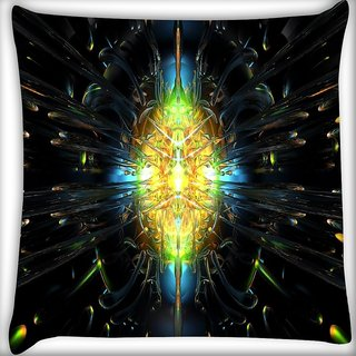 Snoogg Abstract Design Digitally Printed Cushion Cover Pillow 16 x 16 Inch