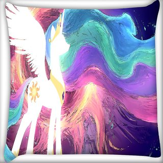Snoogg Celestia Digitally Printed Cushion Cover Pillow 16 x 16 Inch