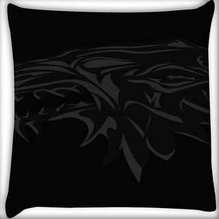 Snoogg House Music Digitally Printed Cushion Cover Pillow 16 x 16 Inch