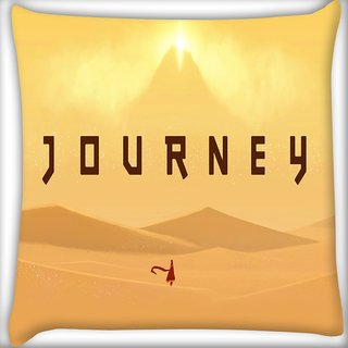 Snoogg Journey Digitally Printed Cushion Cover Pillow 16 x 16 Inch