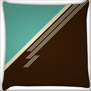Snoogg Brown Lines Digitally Printed Cushion Cover Pillow 16 x 16 Inch