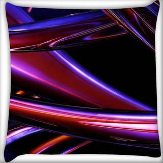 Snoogg Abstract Metal Glitter Metallic Flows Digitally Printed Cushion Cover Pillow 16 x 16 Inch