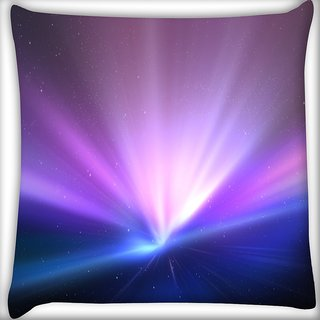 Snoogg Light Colour Abstract Digitally Printed Cushion Cover Pillow 16 x 16 Inch