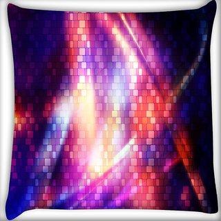 Snoogg Digital Groove Digitally Printed Cushion Cover Pillow 16 x 16 Inch