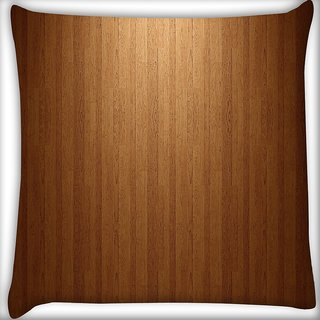 Snoogg Wood Floor Digitally Printed Cushion Cover Pillow 16 x 16 Inch