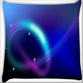 Snoogg Neon Pattern Design Digitally Printed Cushion Cover Pillow 16 x 16 Inch