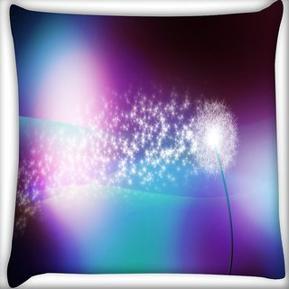 Snoogg Sparkling Petals Digitally Printed Cushion Cover Pillow 16 x 16 Inch