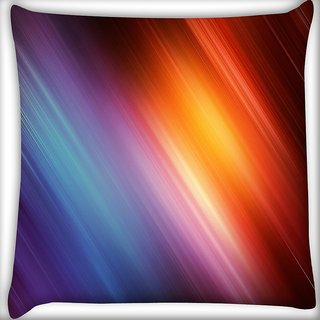 Snoogg Abstract Rays Of Color Digitally Printed Cushion Cover Pillow 16 x 16 Inch