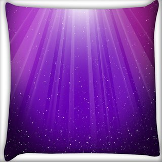 Snoogg Purple Background Digitally Printed Cushion Cover Pillow 16 x 16 Inch