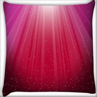 Snoogg Red Background Digitally Printed Cushion Cover Pillow 16 x 16 Inch