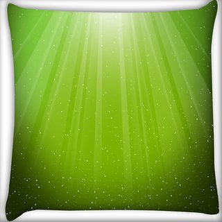 Snoogg Green Background Digitally Printed Cushion Cover Pillow 16 x 16 Inch