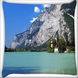 Snoogg Tall Tree In House Digitally Printed Cushion Cover Pillow 16 x 16 Inch