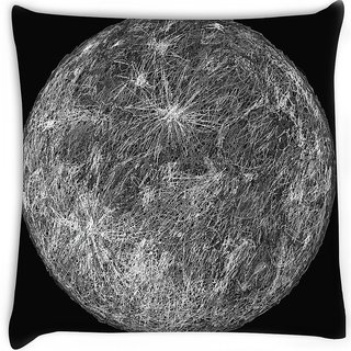 Snoogg  moon Digitally Printed Cushion Cover Pillow 16 x 16 Inch