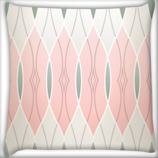 Snoogg Abstract Wall Design Digitally Printed Cushion Cover Pillow 16 x 16 Inch