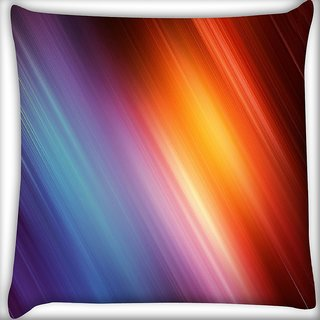 Snoogg Colourful Abstract Lines Digitally Printed Cushion Cover Pillow 16 x 16 Inch