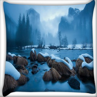 Snoogg Cool Wallpaper Widescreen Digitally Printed Cushion Cover Pillow 16 x 16 Inch