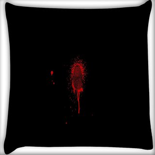 Snoogg Finger Print Digitally Printed Cushion Cover Pillow 16 x 16 Inch