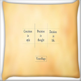 Snoogg Victor Hugo Digitally Printed Cushion Cover Pillow 16 x 16 Inch