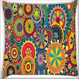 Snoogg Formas Florales Digitally Printed Cushion Cover Pillow 16 x 16 Inch