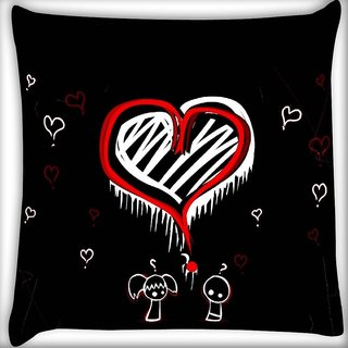 Snoogg World Best Love Digitally Printed Cushion Cover Pillow 16 x 16 Inch
