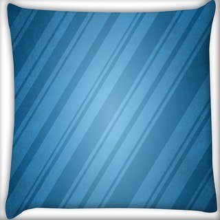 Snoogg Wrapping Paper Blue Digitally Printed Cushion Cover Pillow 16 x 16 Inch