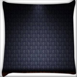 Snoogg Black And Brown Pattern Design Digitally Printed Cushion Cover Pillow 16 x 16 Inch