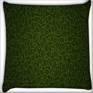 Snoogg Multiple Green Abstract Design Digitally Printed Cushion Cover Pillow 16 x 16 Inch