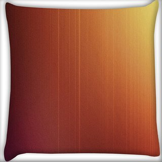Snoogg Focsued Oranged Design Digitally Printed Cushion Cover Pillow 16 x 16 Inch