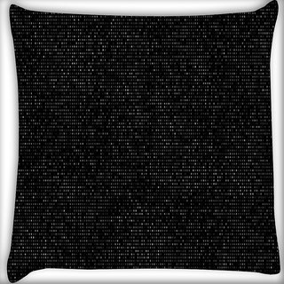 Snoogg Dark Blocks Tiles Digitally Printed Cushion Cover Pillow 16 x 16 Inch