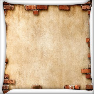 Snoogg Broken Wall Design Digitally Printed Cushion Cover Pillow 16 x 16 Inch