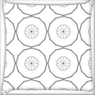 Snoogg Grey Color White Pattern Digitally Printed Cushion Cover Pillow 16 x 16 Inch