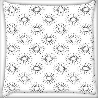 Snoogg Grey Sunlights Digitally Printed Cushion Cover Pillow 16 x 16 Inch
